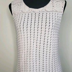Boho Crochet Tunic Top Size XL